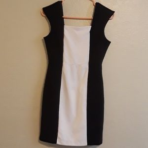Worthington black and white mini dress